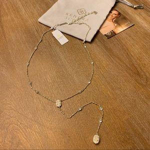 NWT Kendra Scott Claudia Gold Lariat Necklace
